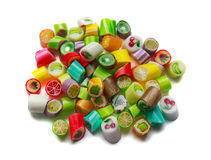 Colorful candy in bulk. Isolated on white background stock images