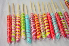 Colorful candy cane at a festival Royalty Free Stock Photography