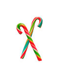 Colorful candy-canes Royalty Free Stock Photos
