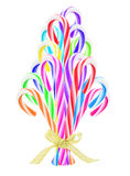 Colorful Candy Canes Christmas Tree Stock Photo