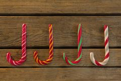 Colorful candy canes Stock Photography