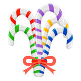 Colorful Candy Canes. Vector Illustration of Colorful Candy Canes Royalty Free Stock Photos