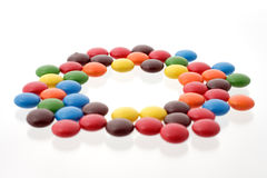 Colorful candy in a circle Royalty Free Stock Image