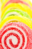 Colorful candy close-up. Close-up of colorful candy in row Stock Photos