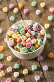 Colorful Candy Conversation Hearts Stock Images