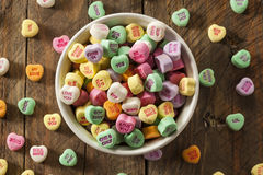 Colorful Candy Conversation Hearts Royalty Free Stock Photos