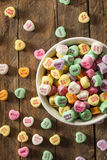 Colorful Candy Conversation Hearts Royalty Free Stock Photo