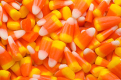 Colorful candy corn background. Abstract Macro of candy corn Royalty Free Stock Photos