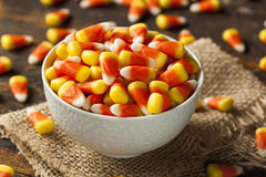 Colorful Candy Corn for Halloween Royalty Free Stock Images