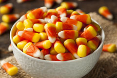 Colorful Candy Corn for Halloween Stock Photos