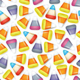 Colorful candy corn seamless pattern vector Royalty Free Stock Images