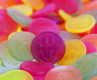 Colorful candy faces Stock Photography