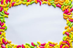 Colorful candy frame Stock Photos