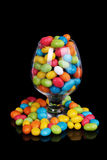 Colorful candy in glass Stock Photo