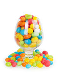 Colorful candy in glass Royalty Free Stock Photography