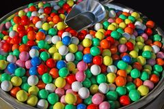 Colorful candy gumballs Royalty Free Stock Photo