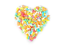 Colorful candy heart Stock Images