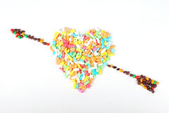 Colorful candy heart Stock Image