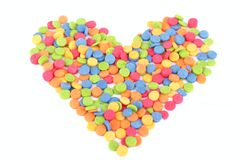 Colorful candy heart for Valentine's Day Stock Photos
