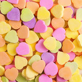 Colorful candy hearts. Background Stock Photo