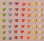 Colorful Candy hearts stock photography