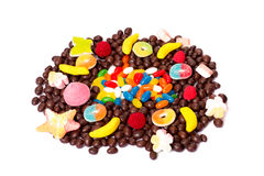 Colorful candy isolated Stock Images