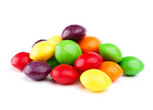 Colorful candy isolated on white Royalty Free Stock Photos