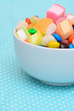 Colorful candy jelly in bowl Stock Photos