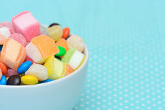 Colorful candy jelly in bowl Royalty Free Stock Photos