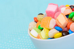 Colorful candy jelly in bowl Stock Photo