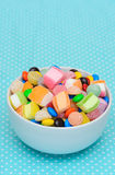 Colorful candy jelly in bowl Royalty Free Stock Images
