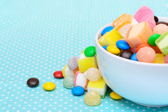 Colorful candy jelly in bowl Stock Images
