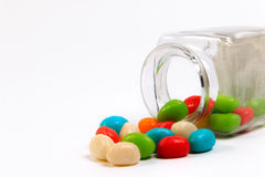 Colorful candy in a little bottle. Stock Photography