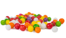 Colorful candy peas Stock Images