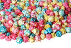 Colorful candy popcorn isolated Stock Photos