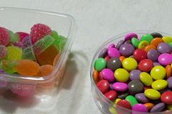 Colorful gummy candy rainbow Stock Photography