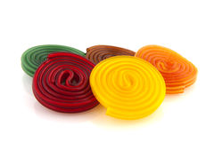 Colorful candy rolls Royalty Free Stock Photography