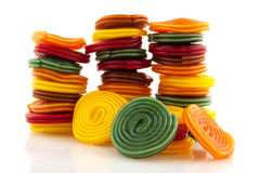 Colorful candy rolls Stock Photos