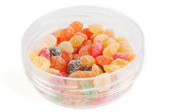Fruit candy multi-colored all sorts Royalty Free Stock Photo
