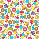 Colorful candy seamless pattern Royalty Free Stock Photography
