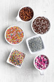 Colorful candy sprinkles Royalty Free Stock Image