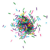 Colorful candy sprinkles pile Stock Image