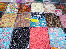Colorful Candy Stand Royalty Free Stock Photography