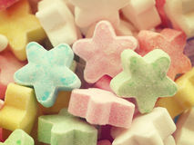 Colorful candy stars old retro vintage Stock Image