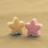 Colorful candy stars old retro vintage Stock Images