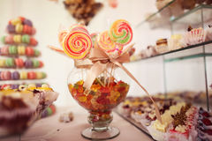 Colorful candy on sticks Royalty Free Stock Image