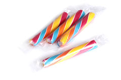 Colorful candy sticks Stock Images