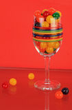 Colorful Candy Still Life - vertical Royalty Free Stock Photos