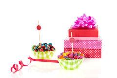 Colorful Candy Sweets And Presents Royalty Free Stock Photos