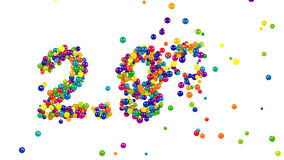 Colorful candy sweets sign in shape of 2.9 percent stock footage